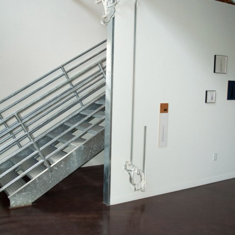 Robert Ortbal - <b>into and out of</b>, 2013, steel and paper installation, dimensions variable
