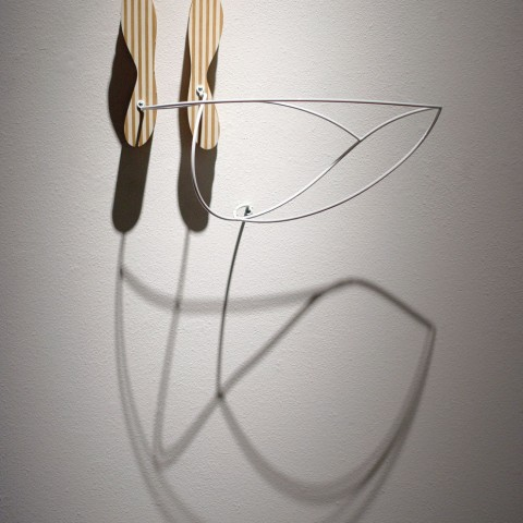Dean DeCocker - <b>Navigational Markers</b>, 2012, acrylic paint, metal, powder coat and wood, 26 x 24 x 14 inches