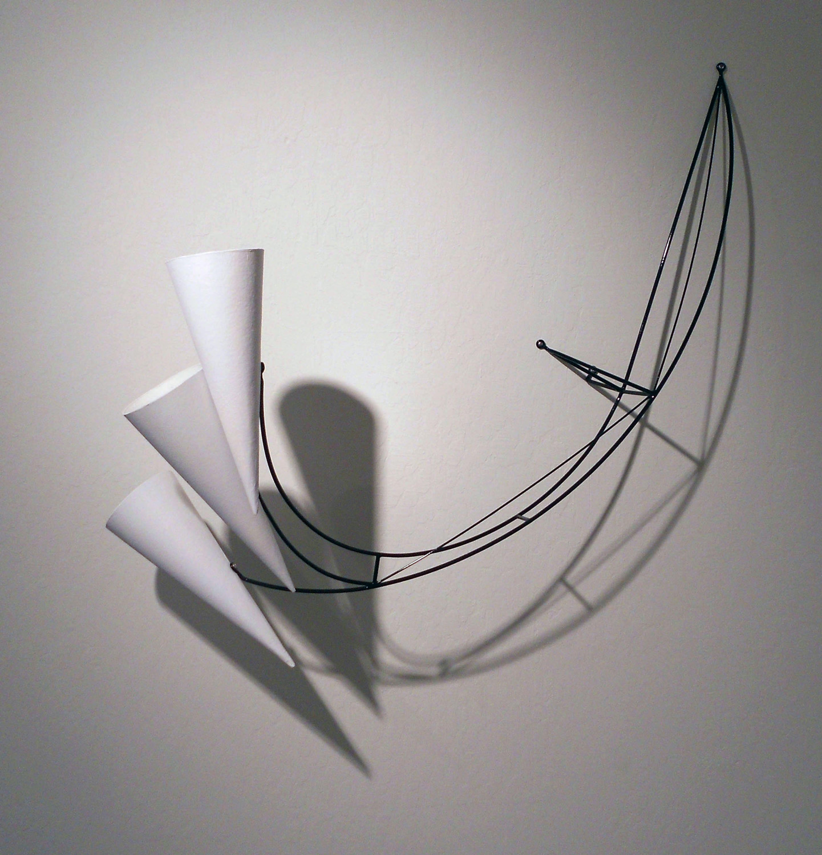Dean Decocker - <b>Fear or Fury</b>, 2012, acrylic paint, cardboard, metal and powder coat, 41 x 38 x 14 inches