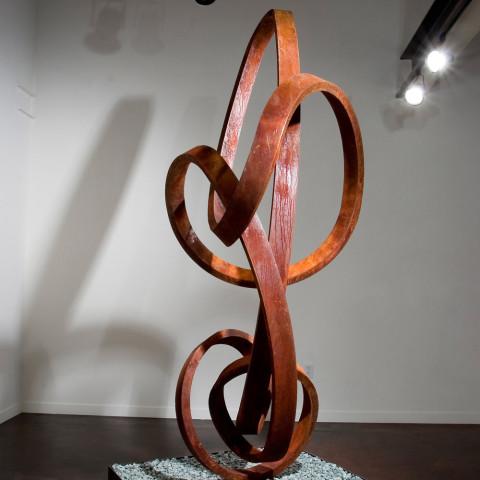 Roger Berry - <b>Mozart</b>, 2004, corten steel, 96 x 42 x 32 inches