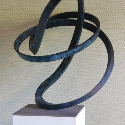 Roger Berry - <b>Oops</b>, 2010, silicon bronze, 23.5 x 24 x 24 inches