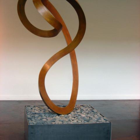 Roger Berry - <b>Prana</b>, 2010, silicon bronze, 22 x 50 x 28 inches