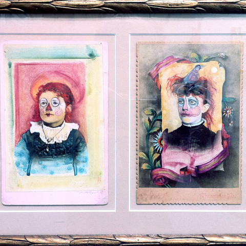 Galelyn Williams - <b>Raggedy Anne, Raggedy Older</b>, 2009, mixed media, 14.75 x 9.75 inches