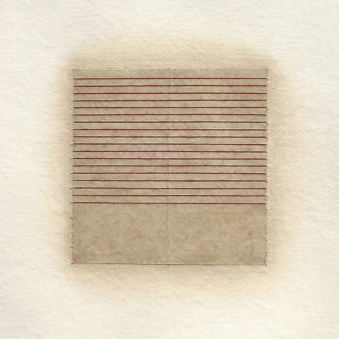 Eleanor Wood - <b>Realignments Series #6</b> (detail), 2014, watercolor, waxed paper and oil on cotton paper, 22.5 x 22.5 inches
