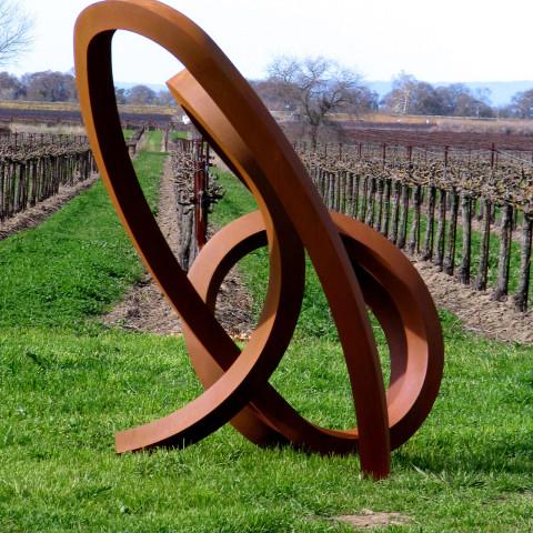 Roger Berry - <b>Seiche</b>, 2008, corten steel, 112 x 84 x 61 inches