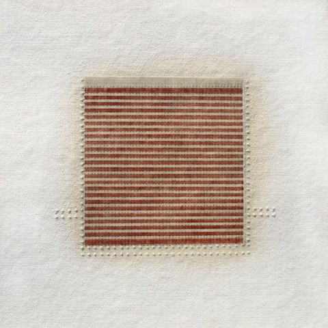 Eleanor Wood - <b>Sequels Series #4</b>, 2013-14, watercolor, waxed paper, oil and pencil on cotton paper, 13 x 13 inches