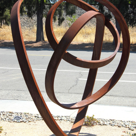 Roger Berry - <b>Virga</b>, 2003, corten steel, approximately 7 x 7 x 7 feet, view 2