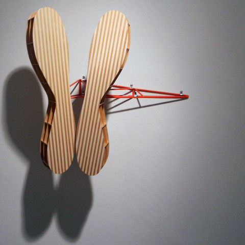 Dean DeCocker - <b>Welcome to the Pacific</b>, 2012, acrylic paint, metal, powder coat and wood, 24 x 12 x 16 inches