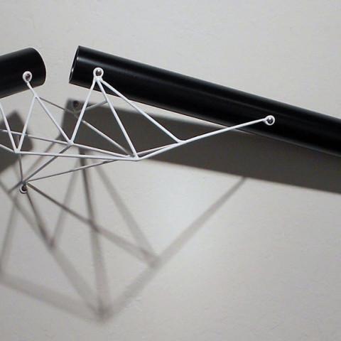 Dean DeCocker - <b>Night Sortie</b>, 2012, acrylic paint, metal, plastic, powder coat and wood, 36 x 10 x 20 inches