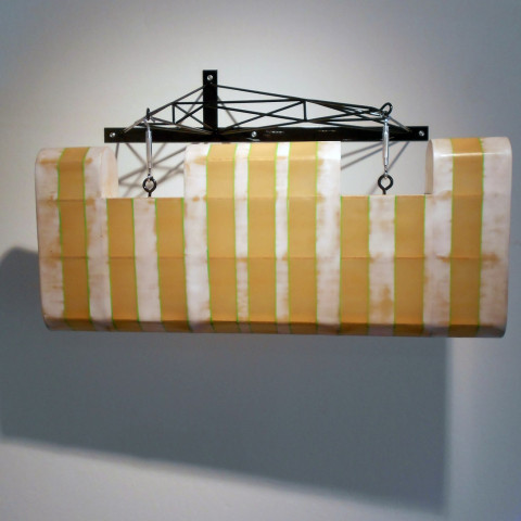 Dean DeCocker - <b>Running at Full Tilt</b>, 2012, acrylic paint, fiberglass, metal, powder coat and wood, 36 x 24 x 20 inches