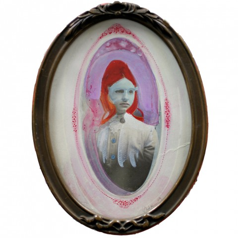 Galelyn Williams - <b>Twin</b>, 2009, mixed media, 7.75 x 5.75 inches