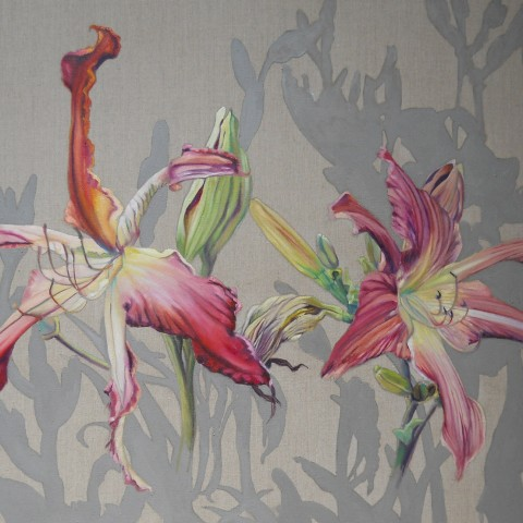 Mary Warner - <b>Lilies</b>, 2012, oil on linen, 40 x 60 inches