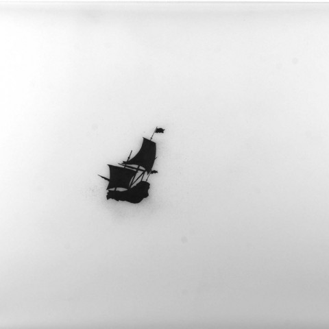 Richard Martinez - <b>Andes</b>, 2012, alkyd and graphite on drafting film, 25 x 40 inches