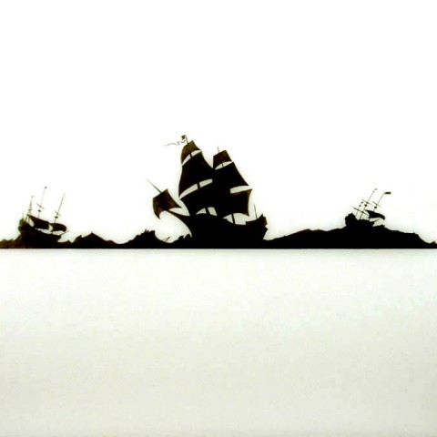 Richard Martinez - <b>Untitled IV</b>, 2012, alkyd and graphite on drafting film
