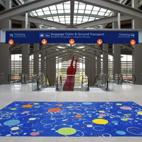 Joan Moment - <b>A Fragment of the Universe</b>, 2011, glass mosaic, 12 x 18 feet, public art commission, S.M.A.C., Sacramento International Airport