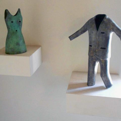 Ken Little - <b>Doe</b>, 1996, bronze, 9 x 4 x 4 inches; <b>Buck</b>, 1996, bronze, 15 x 12 x 5 inches