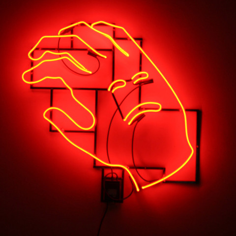 Ken Little - <b>Desire</b>, 2007, neon/mixed media, 43 x 36 x 4 inches