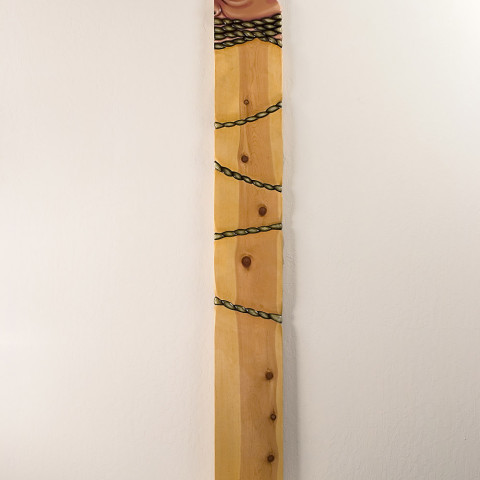 Michael Stevens - <b>The Hostage</b>, 2006, pine and enamel, 72 x 9 inches