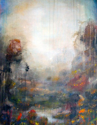 "Leaver: Where I, 2014, oil on canvas, 40 x 30"""